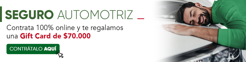 Bases Gift Card Seguro Automotriz $70.000